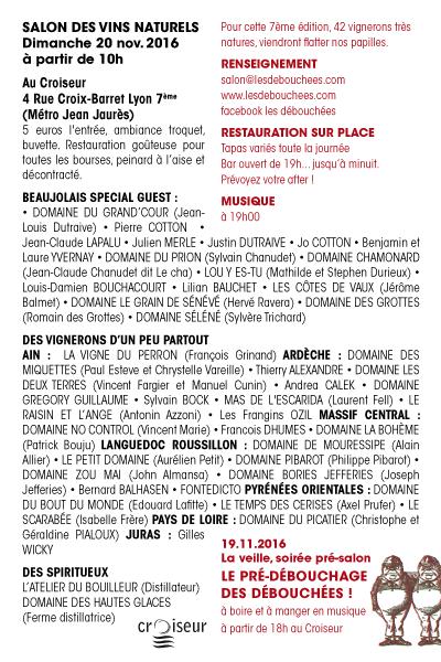 Salon de vins naturels novembre 2016 salon des d bouch es for Salon des vins de loire 2017
